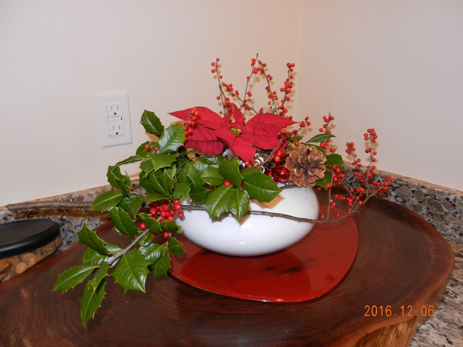 Orchids and ikebana holiday arrangement for christmas Christmas orchid arrangements