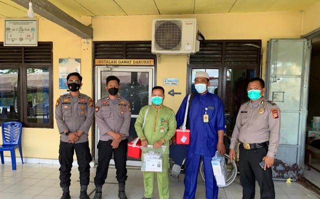 Polsek Kubu Kawal Pengambilan Vaksin Sinkvac Dari Polres Rohil