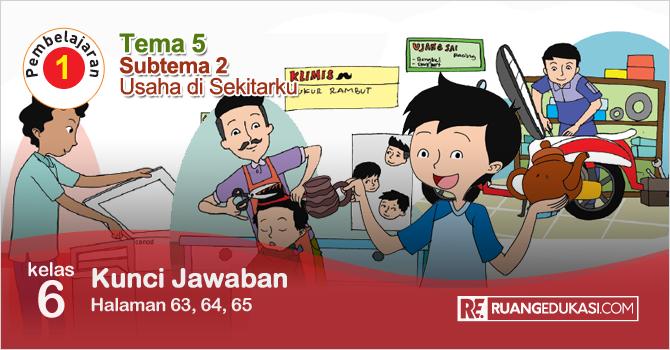 Kunci Jawaban Tematik Tema 5 Kelas 6 Halaman 63, 64, 65 Kurikulum 2013