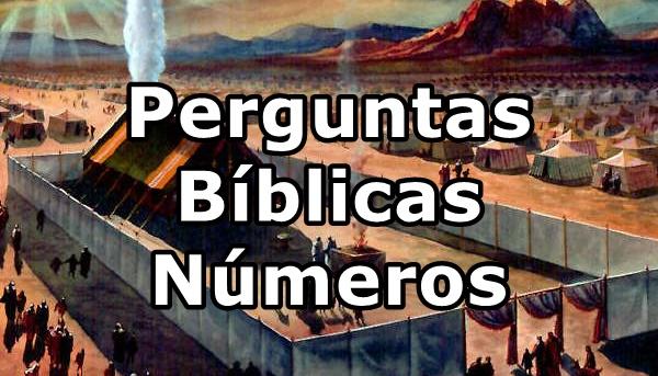 Perguntas biblicas livro de numeros