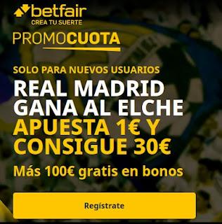 betfair promocuota Real Madrid gana Elche 13 marzo 2021
