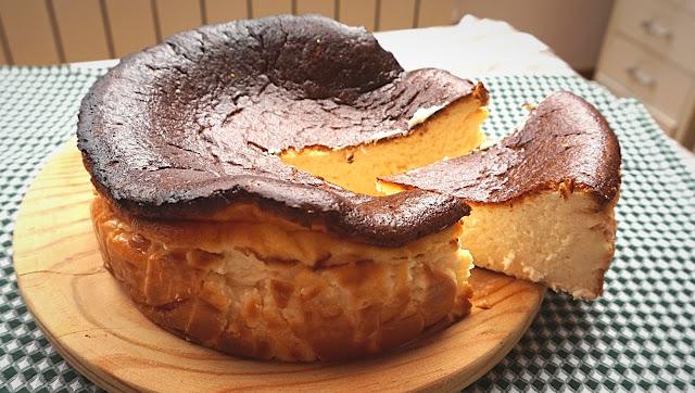 Tarta de La Viña, San Sebastian. La tarta más cremosa del mundo.