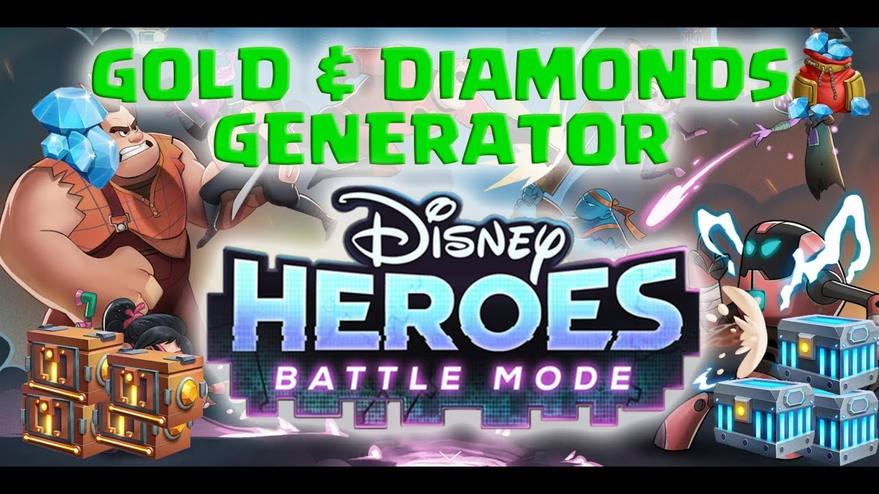 Get Disney Heroes Battle ModeUnlimited Diamonds and Coins For Free! 100% Working [December 2020]