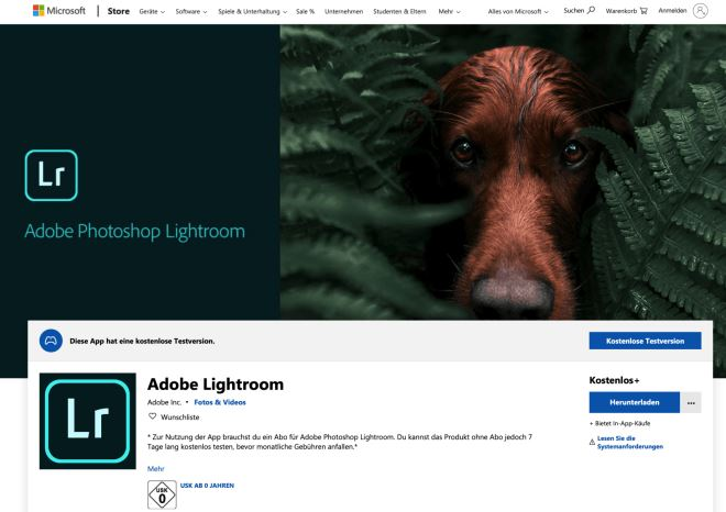 Lightroom app for Windows 10 is now available in the Microsoft Store