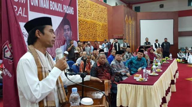 UIN Imam Bonjol Padang Beri Gelar Doktor Honoris Causa untuk Ustaz Abdul Somad