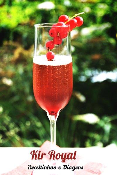 Kir Royal Drink Refrescante e docinho