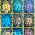 Lukisan Dekoratif Kepala Buddha 100x125cm MD-097