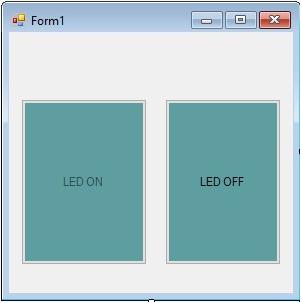 visual studio में design किया गया यह form serial communication बनाएगा arduino से
