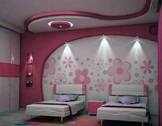 ديكور جبس غرف البنات