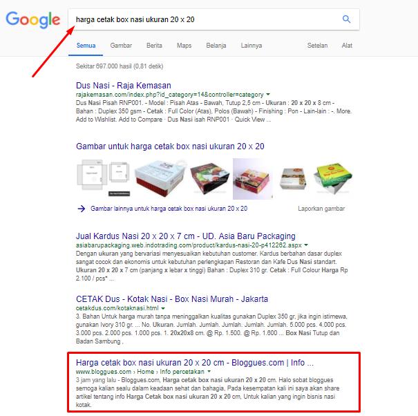 Cara agar judul postingan muncul di halaman satu google