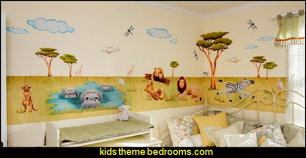 Silly Safari  Animals  wall - Reusable Wall Decorations