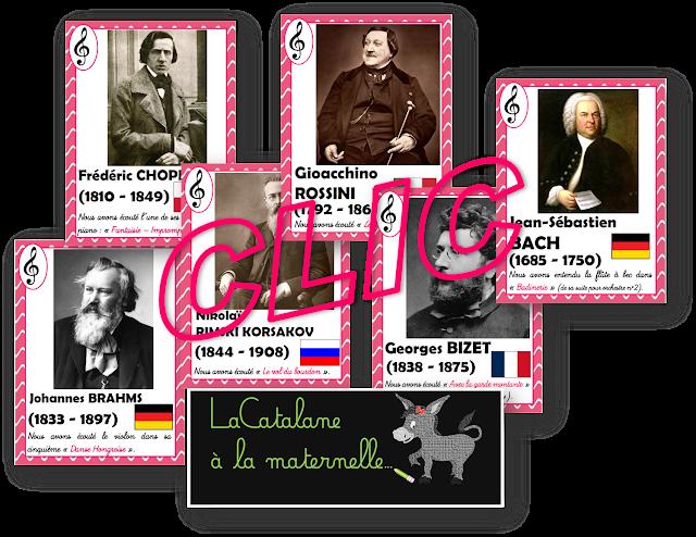Ecoute musicale : fiches compositeurs 2 (LaCatalane)