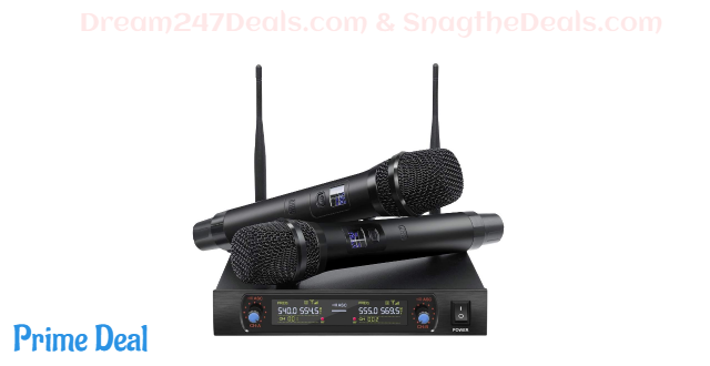 40% OFF  Handheld Wireless Microphone System Upgrade Version UHF Dual Channel