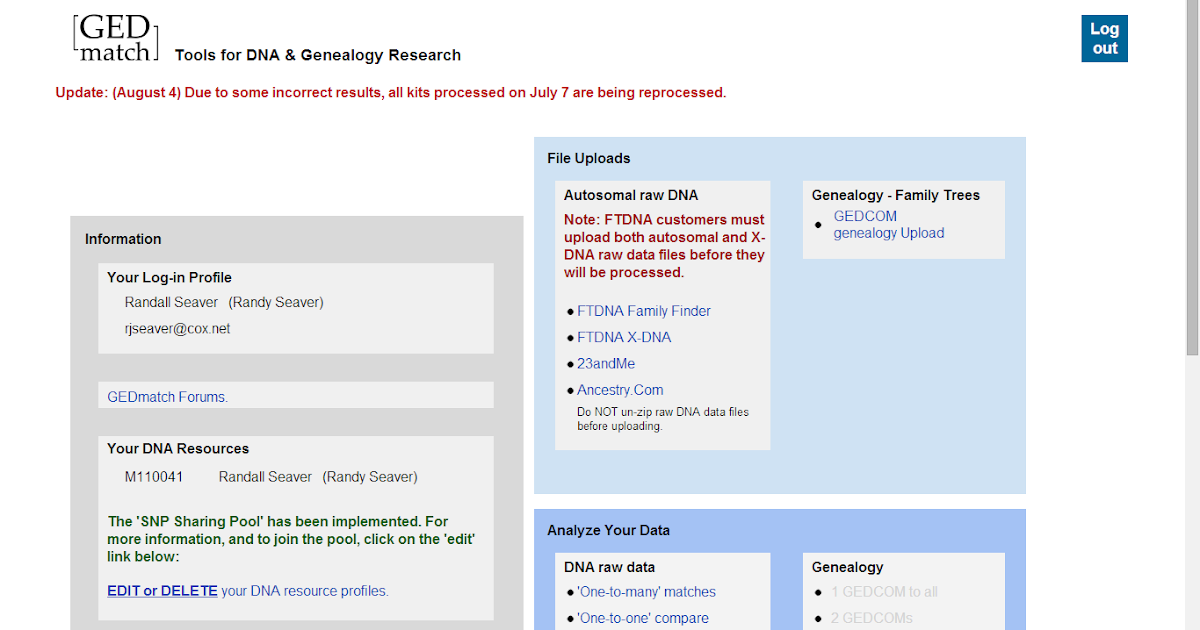Genea-Musings: My First Look at GEDMatch Autosomal DNA Analysis