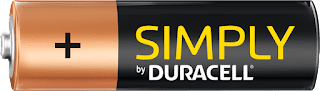 batteria duracell stilo AA simply