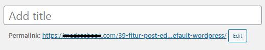 Fitur Add Title WordPress