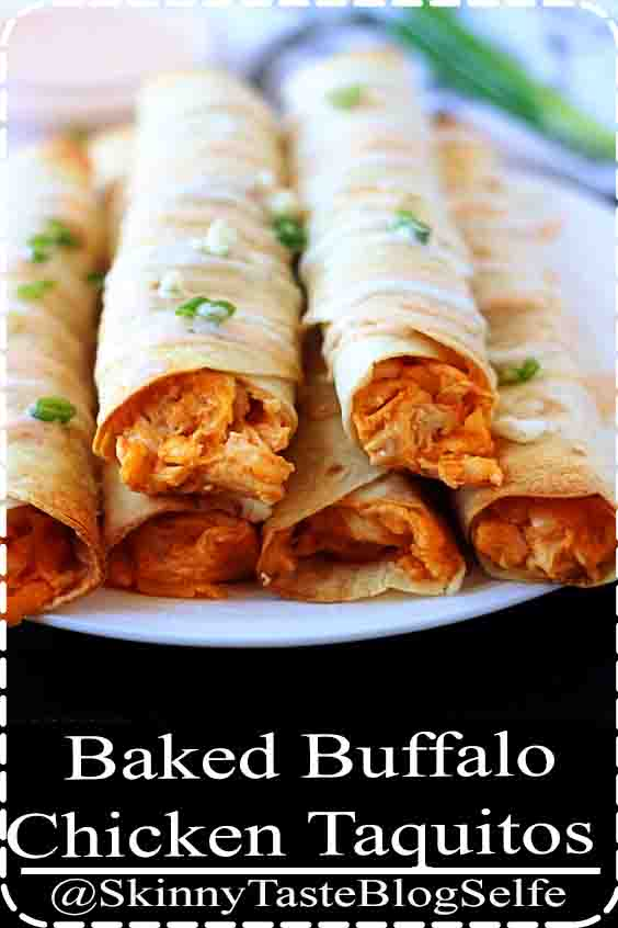 4.8 | ★★★★★ Baked Buffalo Chicken Taquitos - Life In The Lofthouse #Baked #Buffalo #Chicken