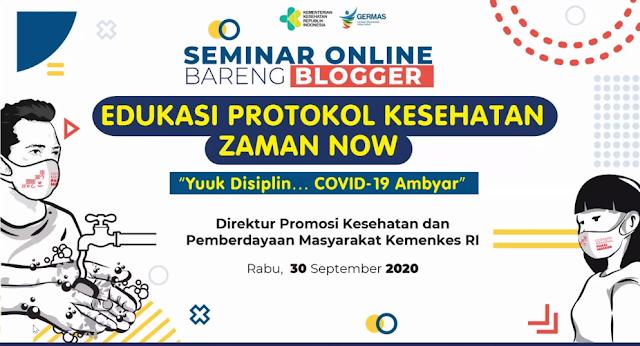 Seminar online Seminar Online Yuk Disiplin.. Covid-19 Ambyar