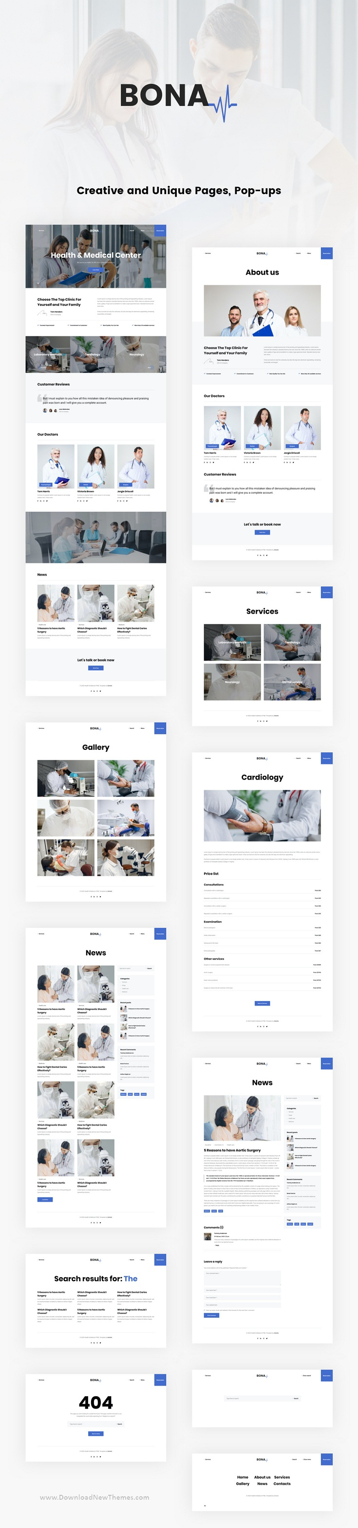 Health and Medical React JS Template