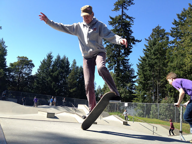 Lillis at Rotary Skatepark, Vancouver Island.