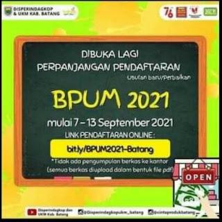 Link Pendaftaran Online BPUM Kota Batang 2021