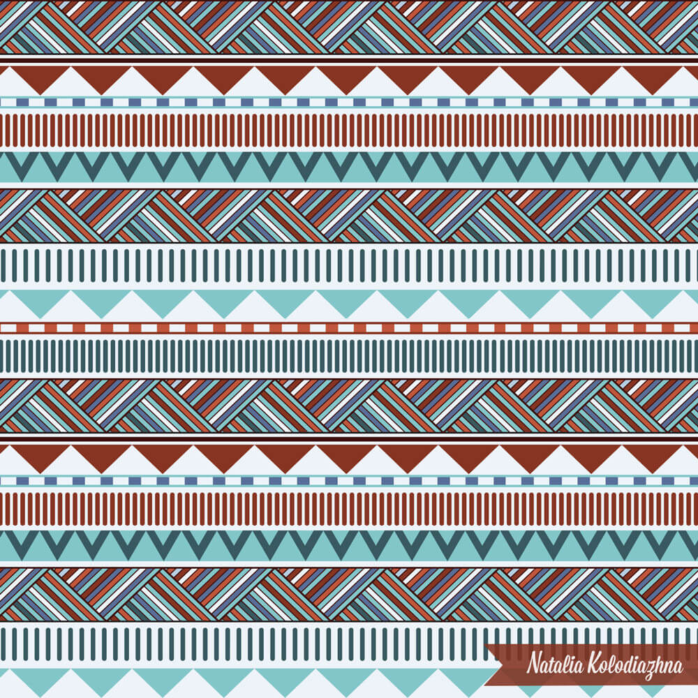 Geometric fancy pattern by Natalia Kolodiazhna