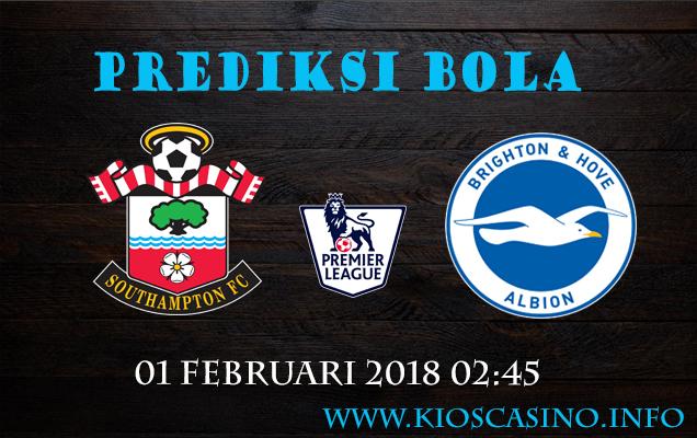 Prediksi Bola Southampton vs Brighton Hove Albion 01 Februari 2018