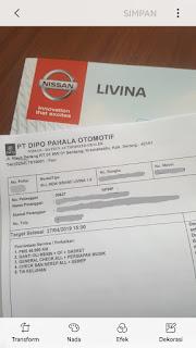 Servis Livina 40000km