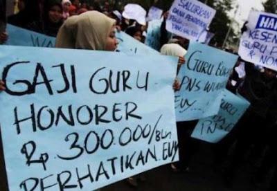 Gaji Guru Honorer 300 Ribu Rupiah, PPG Prajabatan Mandiri 9,5 Juta Rupiah per Semester