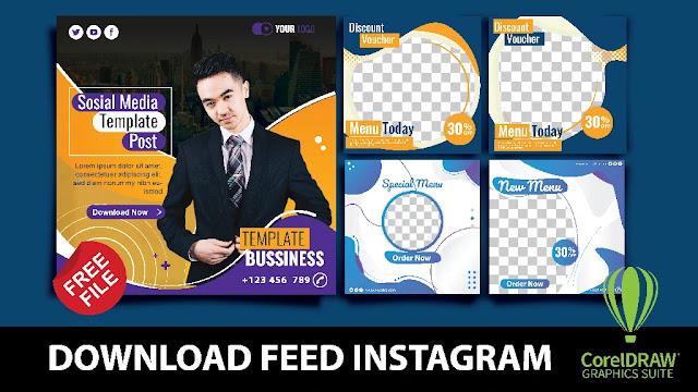 Free Feed Instagram CDR: Download Desain Feed Instagram Coreldraw Gratis