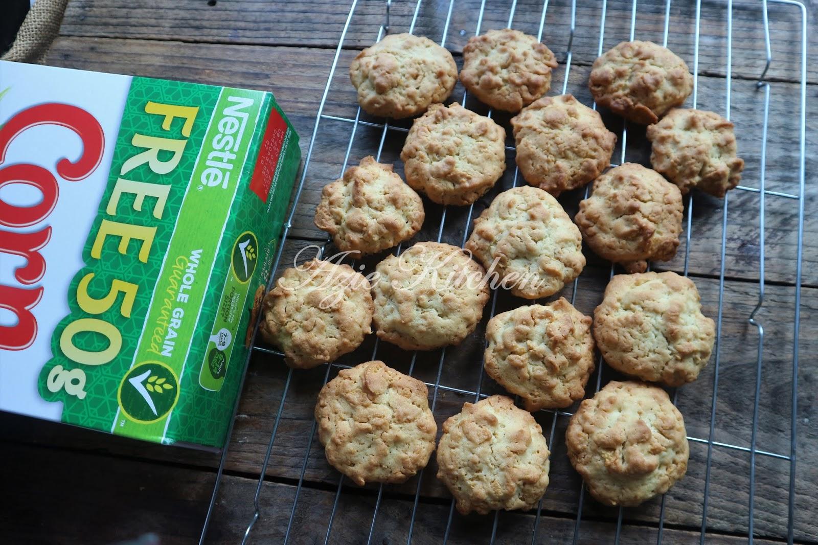 Biskut Cornflakes Yang Paling Sedap - Azie Kitchen