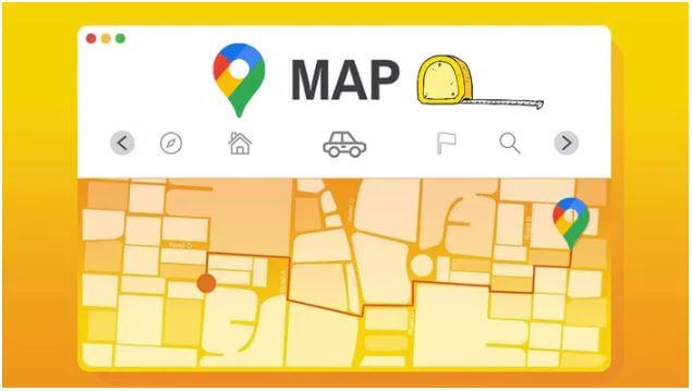 قياس, المسافات, على, تطبيق, خرائط, Google