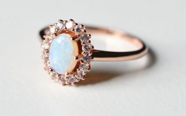 Non Diamond Engagement Rings Opal