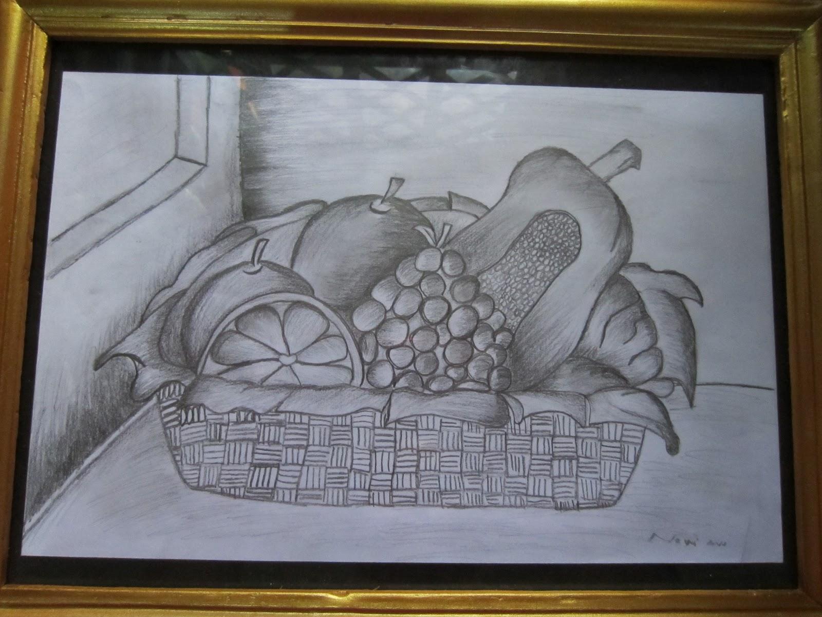 Lukisan Buah Buahan Tempatan Dalam Bakul Bagikan Contoh