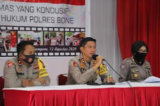 Kapolres Bone Pimpin Latihan Pra Operasi Bina Kusuma Lipu 2020