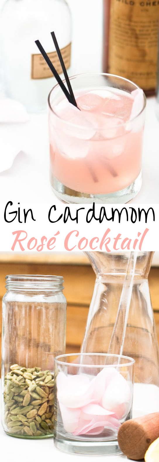 Gin Cardamom Rosé Cocktail #cocktails #drinks