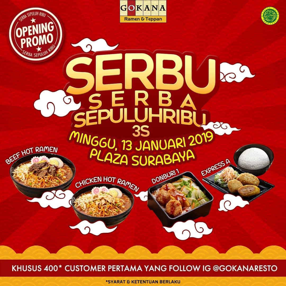 #Gokana - Promo Serba Sepuluh Ribu di Plaza Surabaya (HARI INI)
