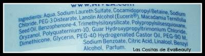 Ingredientes champú Color protector cabellos teñídos y con mechas nivea
