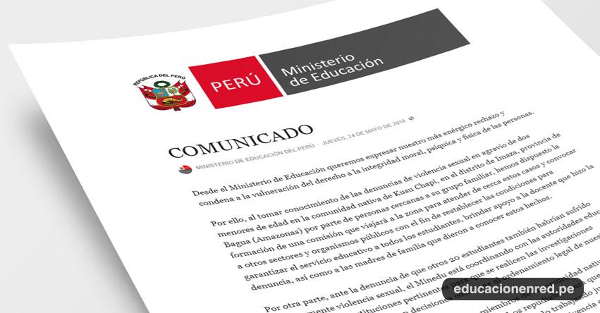 MINEDU Expresa el más enérgico rechazo y condena a la vulneración del derecho a la integridad moral, psíquica y física de las personas - www.minedu.gob.pe
