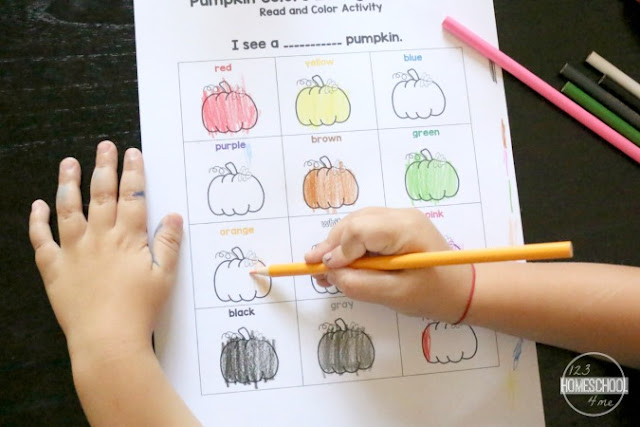 preschool color words printable workshet for kids