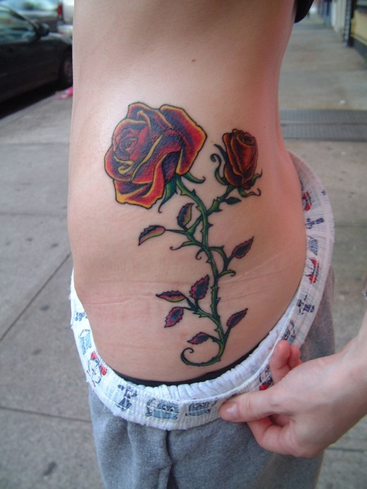 awesome rose tattoo design for women 2011 520x693