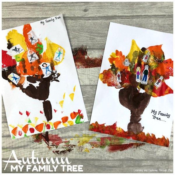 Autumn Family Tree Craft