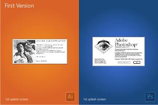Illustrator e Photoshop: primeira tela de abertura