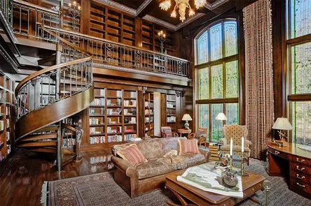 interior english style home library