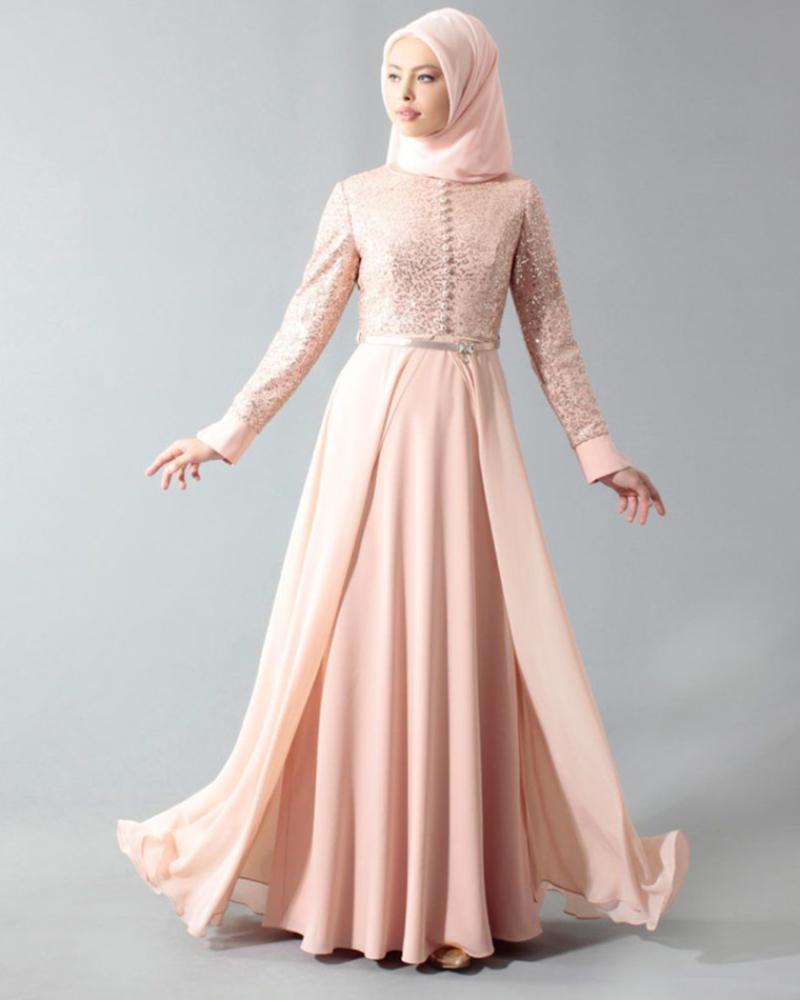 TRend model baju lebaran Gamis Brokat