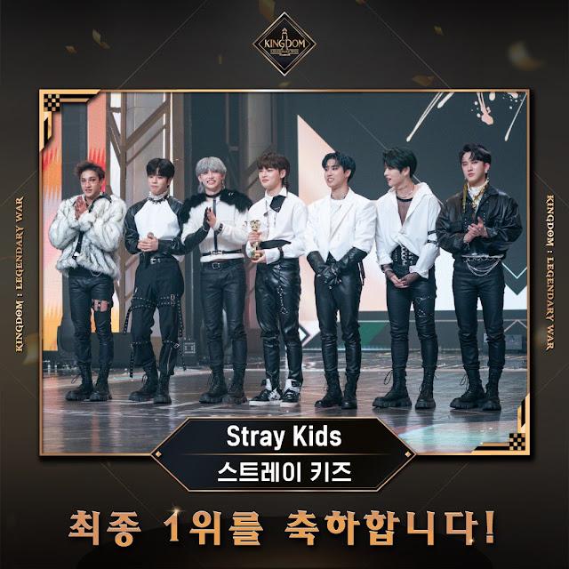 Stray Kids son los ganadores de Kingdom, el programa de Mnet