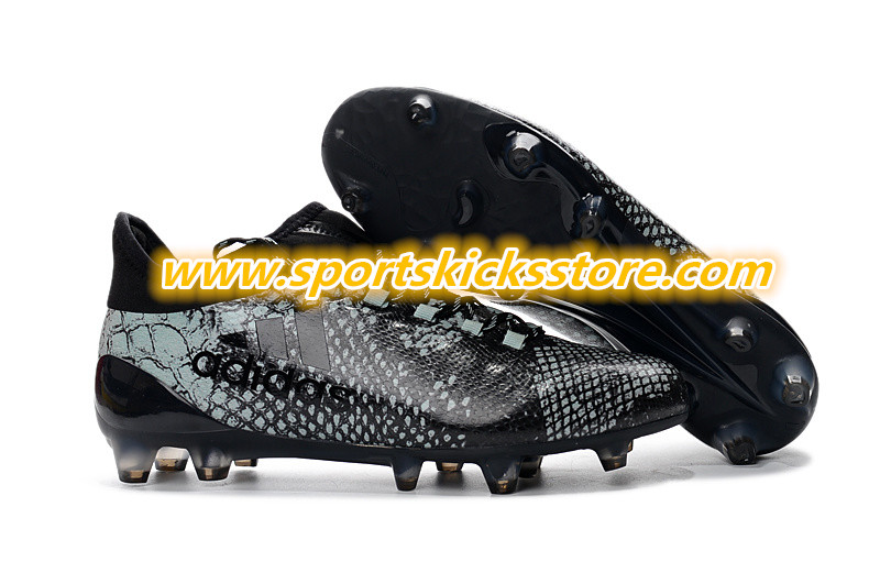 new product 32ebf 5947e Once again Adidas chooses an animal-inspired print for the upper of one of  its football boots. In the case of the Viper Pack Adidas X 16 boots, the  black ...
