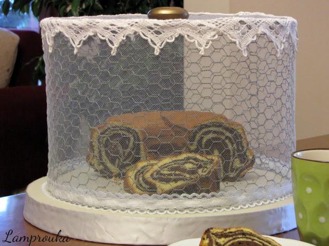 Φτιάξε ένα κάλυμμα για κέικ, κατασκευή με κοτετσόσυρμα.