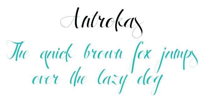 Antrokas Font