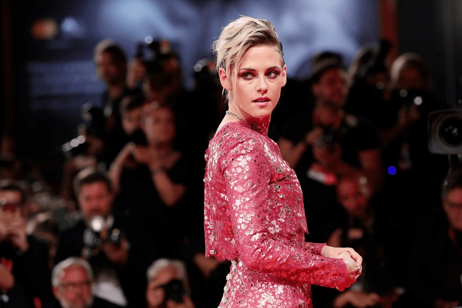 Kristen Stewart Stuns In Shiny Pink Dress For 'Seberg's Venice Film Festival